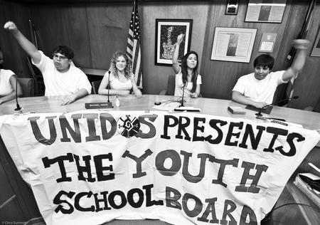 Students take over the April 26 Tucson school board meeting (credit: Chris Summitt)