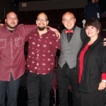 Bobby  LeFebre (bow tie) with his mother and brothers