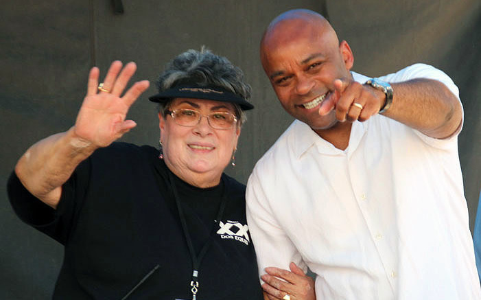 Mayor Michael Hancock with former NEWSED  Community Development Executive Director  Veronica Barela at the  2016 Cinco de Mayo Festival. Photo by Joe Contreras, Latin Life Denver Media