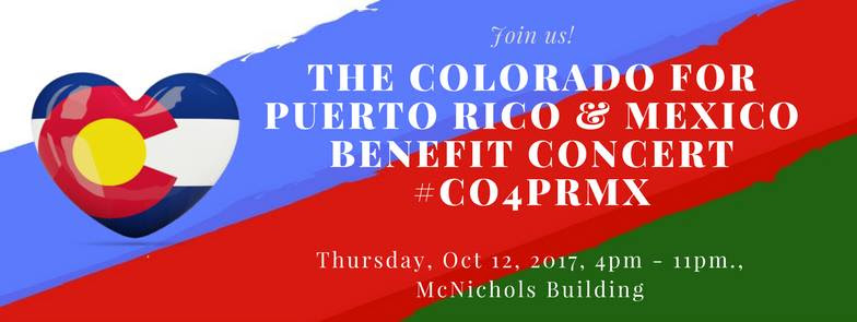 Colorado for Puerto Rico & Mexico concert