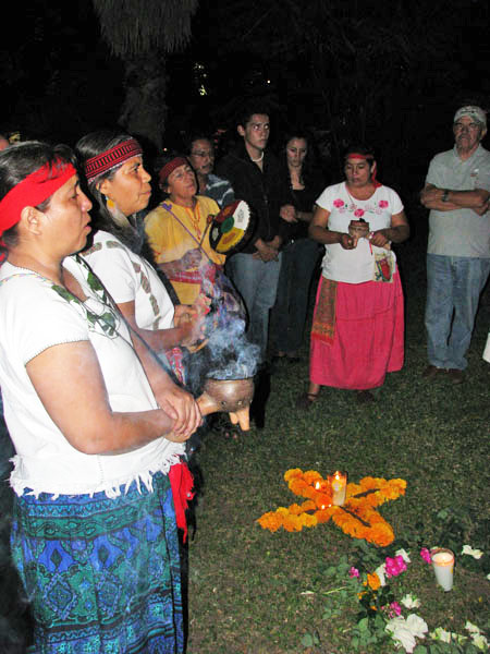 Incense: Scented copal is used for calling our deceased and also to greet the gods. The incense has been used since prehispanic time.