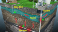 dangers-fracking-minimal-text-infographic-depicting-geologic-cross-section-focuses-natural-gas-extracting-48923331