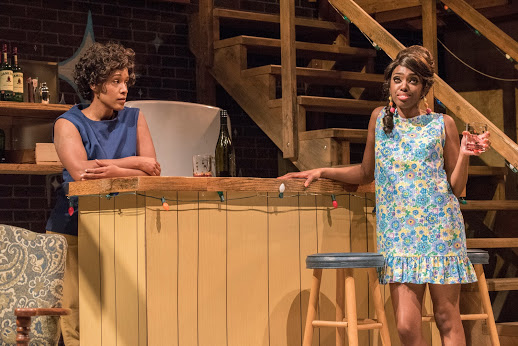 Chelle, (left) played by Jada Suzanne Dixon with Bunny, Llasiiea Gray (right) Photo by Michael Ensminger