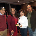 Director James Vasquez (left) along with  Rowena Alegría | Senior Adviser Agency for Human Rights & Community Partnerships | City and County of Denver  (2nd from left) and Tony Garcia (right) Executive Creative Director for Su Teatro Performing Arts Center in Denver accompanied by his wife.