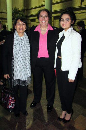 Berenice Rendon Talavera, the General Consul of Mexico in Denver (left) Gabriella Chavarria (center) along with her daughter (right)