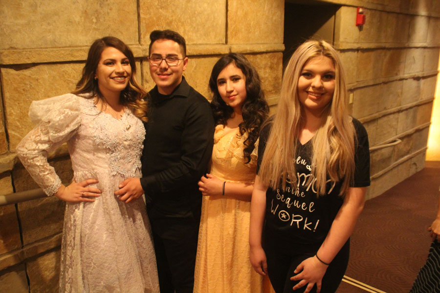 From West Leadership Academy, Zehydi Chaparro-Rojas (left) Jose Torres-Andazola (left center) Alexandra Andazola-Chavez (right center) & Rossy Martinez-Sanchez (right)