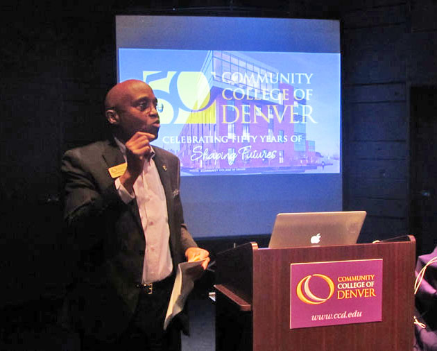 Community College of Denver President Everitte J. Freeman thanks all those who made this special event possible.