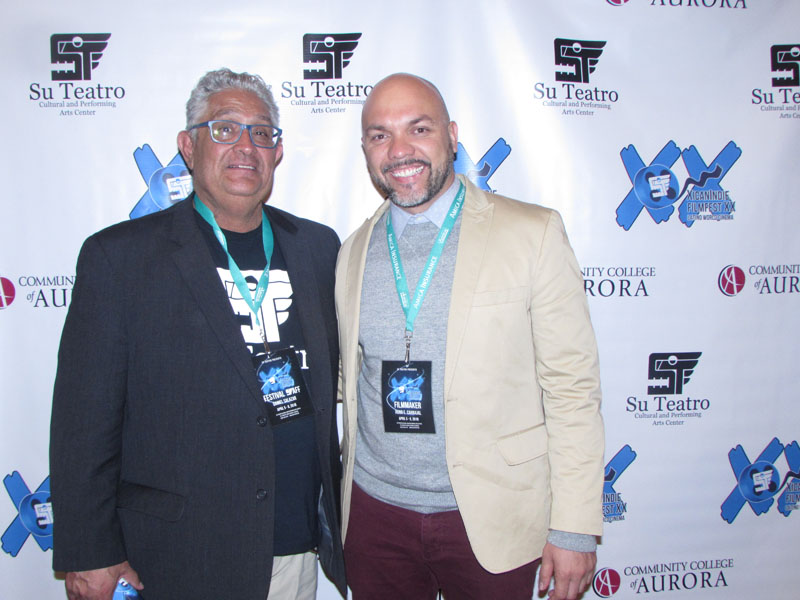 XicanIndie FilmFest Director Daniel Salazar (left) with actor, director & drama professor, Hugo Carbajal