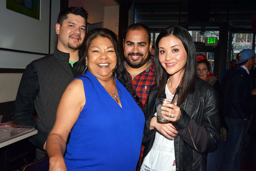 Nyson Rodrigues (right -rear) with family & friends. Extreme & Exotic was the name of his Exoctico cocktail