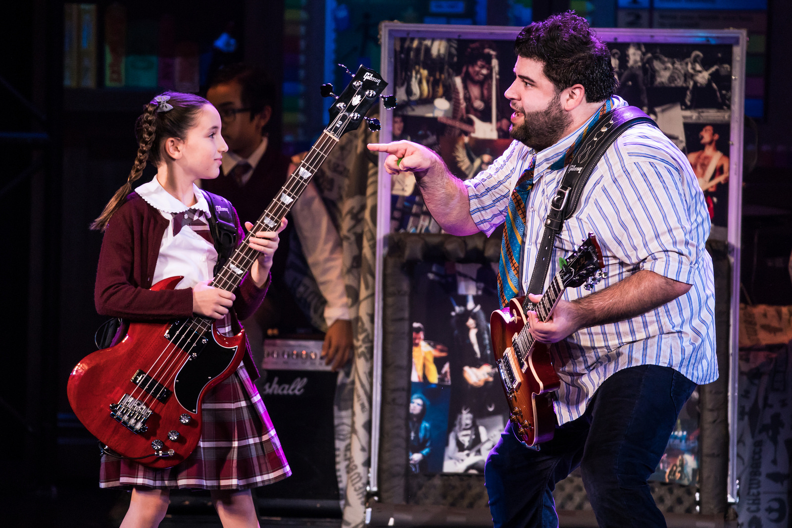 Denver Center_Theodora Silverman and Rob Colletti in the School of Rock.