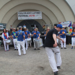 Bateria Alegria got the crowd moving with its Brazilian persuasions.