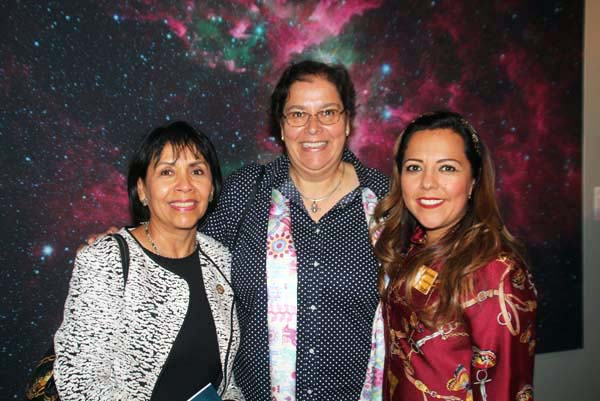 Among those attending the opening reception were Ambassador Berenice Rendón-Talavera, Consul General of Mexico in Denver, (left) Gabriela Chavarria, PhD Vice President of Research and Collections (center) and Claudia Moran | Executive Director, Museo de las Americas (right)