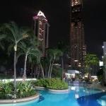 The pool at the Amari Watergate Hotel, Bangkok, Thailand