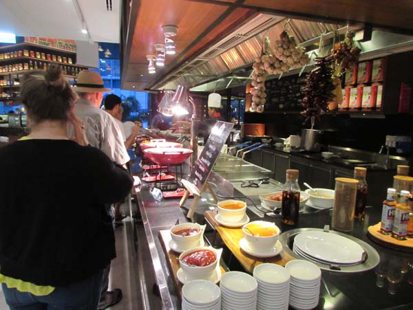 Breakfast buffet at the Bangkok Amari Watergate Hotel