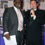 Former NFL running back Reggie Rivers and Master of Ceremonies Luis Canela, Telemundo Sports