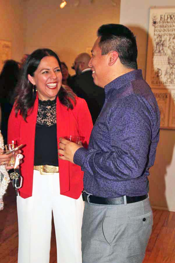 Claudia Moran-Pichardo,(left) Executive Director Museo de las Americas socializing at one of the many events produced by Museo de las Americas. Photo by Latin Life Denver Media