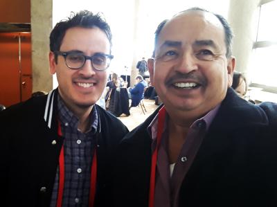Paywright Tony Meneses (left) with Joe Contreras, Latin Life Denver Media