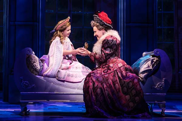 Victoria Bingham (Little Anastasia) and Joy Franz (Dowager Empress) in the National Tour of ANASTASIA. Photo by Evan Zimmerman, MurphyMade.