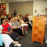 Juana Bordas, On of the founding members of the Latina Legacy Circle addresses the overflow crowd at this years induction celebration (see video)