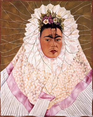 Frida Kahlo, Diego on my Mind, 1943. Oil on Masonite; 29.9 x 24 in. (76 x 61 cm). The Vergel Foundation. ©2019 Banco de México Diego Rivera Frida Kahlo Museums Trust, Mexico, D.F./Artists Rights Society (ARS), New York. Photo by Gerardo Suter.