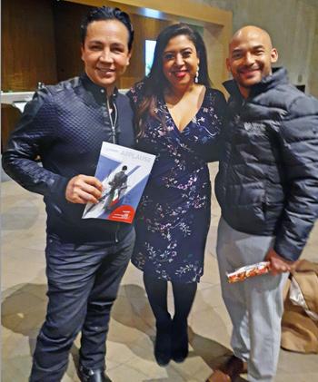 Julio Martinez Coronado (left) Rachael Garcia and Norberto Mojardin (right)