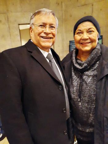 Dr. Lorenzo Trujillo (left) & Polly Baca, former Colorado State Representative & Congresswoman. Photo by Latin Life Denver Media