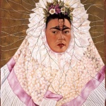 Frida Kahlo, Diego on my Mind, 1943. Oil on Masonite; 29.9 x 24 in. (76 x 61 cm). The Vergel Foundation and MondoMostre in collaboration with the Instituto Nacional de Bellas Artes y Literatura (INBAL). © 2020 Banco de Mexico Diego Rivera Frida Kahlo Museums Trust, Mexico, D.F./ Artists Rights Society (ARS), New York. Photo by Gerardo Suter.