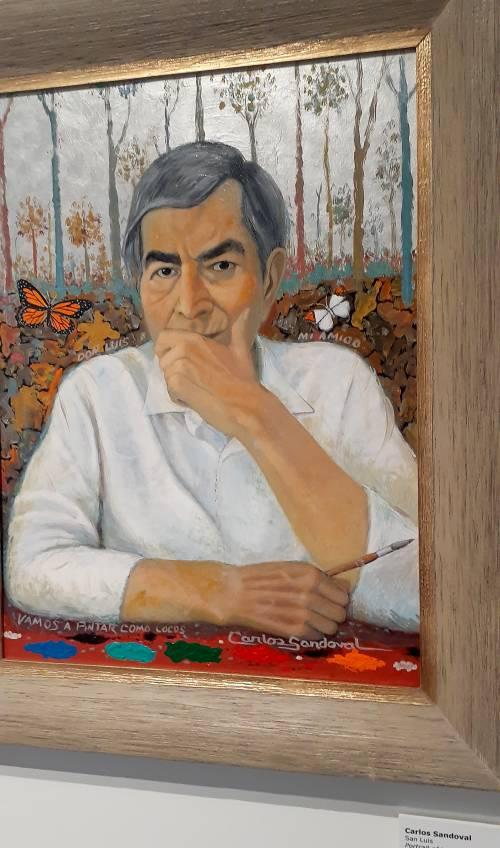 "Luis Abarca, painted by Carlos Sandoval, titled ""Vamos a Pintar Como Locos""."