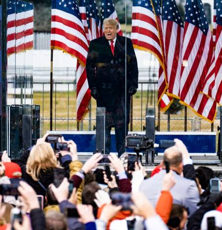 President Trump at a rally near the White House.Credit...Pete Marovich for The New York Times