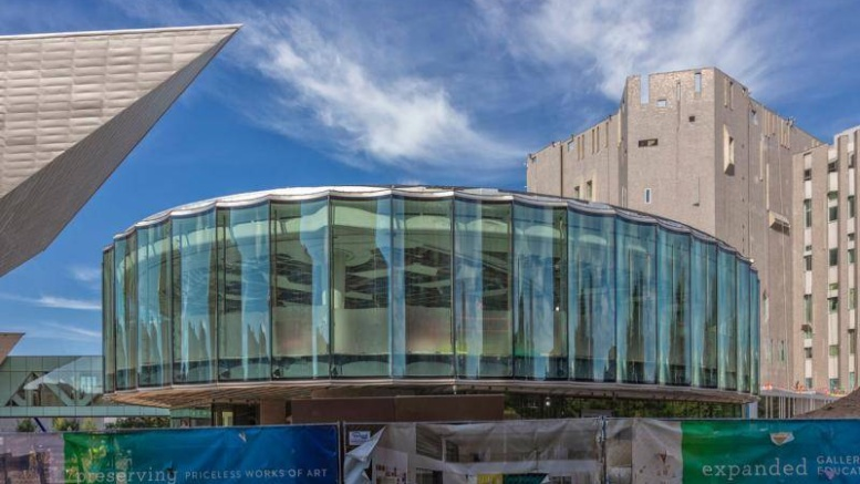 Denver Art Museum_Welcome-Center-North-Building-and-Hamilton-Building-prow